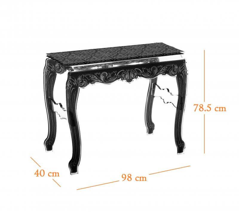 Acrila console baroque design et originale en acrylique transparent - Console transparente design ...