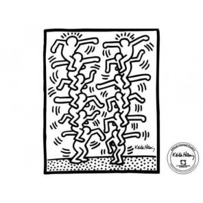 """Sticker """"Two stack of figures"""" from Keith Haring"""