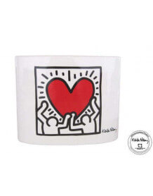 """Vase Keith Haring """"Men With Heart"""""""