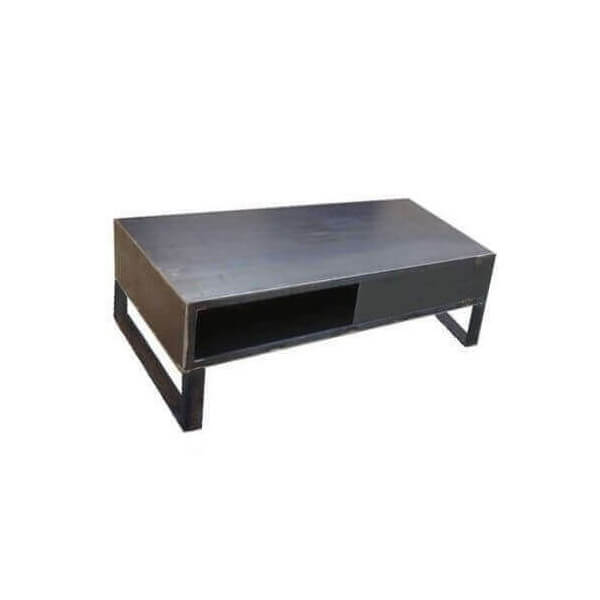 Table basse de salon acier
