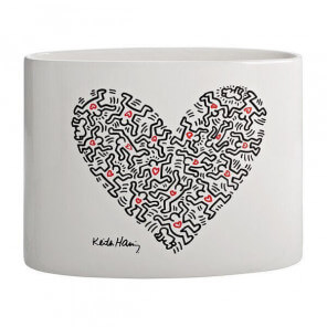 Heart vase by Keith Haring