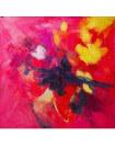Tableau abstrait Flamboyant