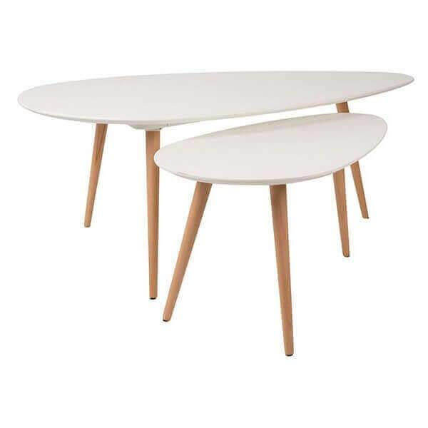 lot de 2 tables Suede 1995