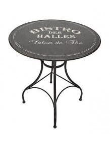 Round black Bistro table