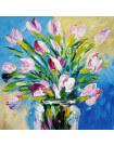 Tableau bouquet rose