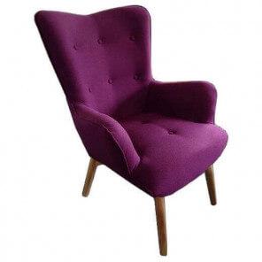 Purple Java arm chair