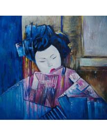 Tableau exotique Geisha