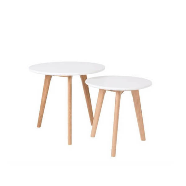 Set of 2 nordic scandinavian table
