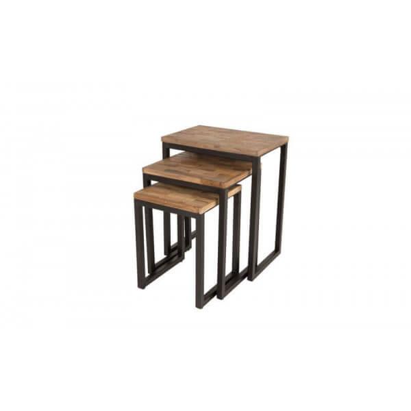 Tables gigognes bois et acier