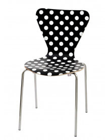 Chaise design à Pois blancs ou noirs