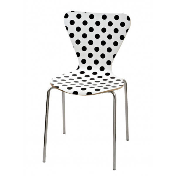 Black spotted chair