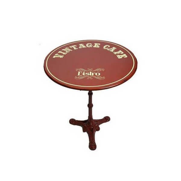 Relative Table de café rouge acier QK06