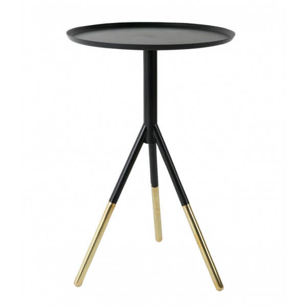 table d 39 appoint acier laiton. Black Bedroom Furniture Sets. Home Design Ideas