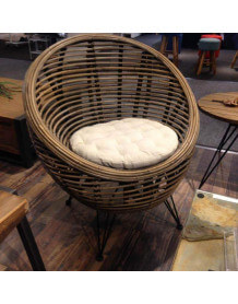 rattan Ball arm chair