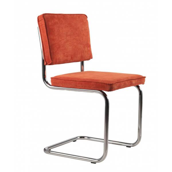 Chaise rétro classic orange