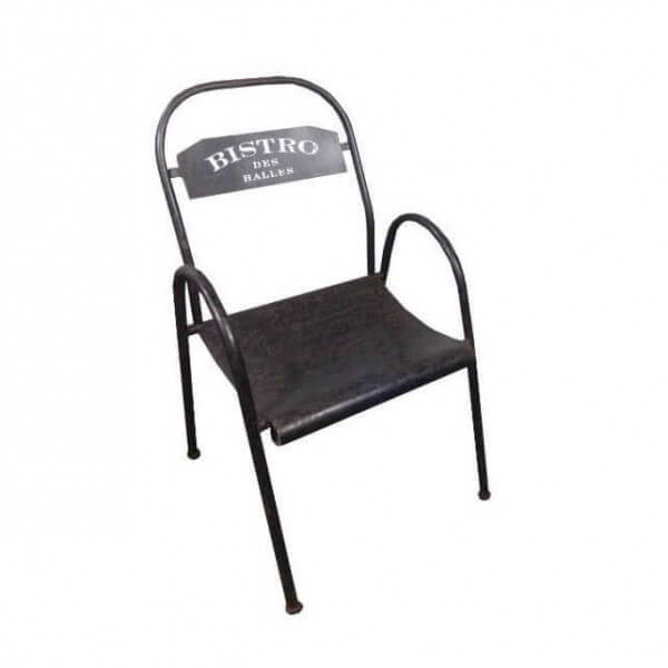 Chaise bistro metal