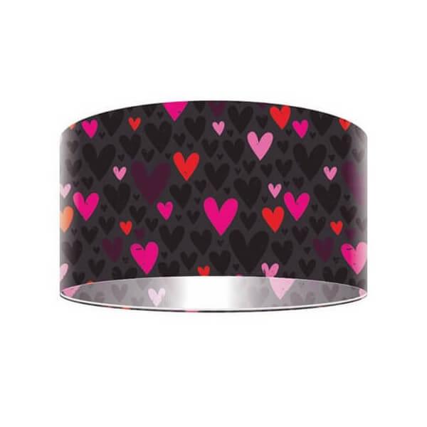 lampe Suspension Coeurs rose