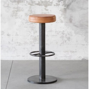 Steel leather bar stool