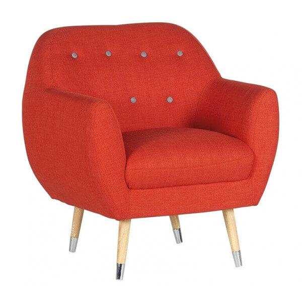Fauteuil design club orange