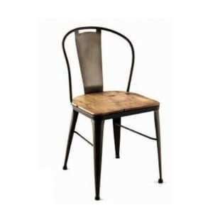 Wood industrial Coffee chair