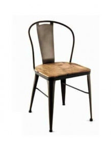 Wood industrial Coffee chair