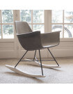 Concrete rocking chair
