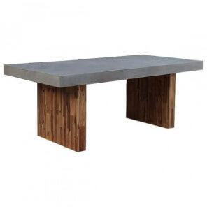 Concrete and wood dining table