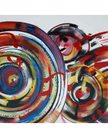 Tableau abstrait Vinyl