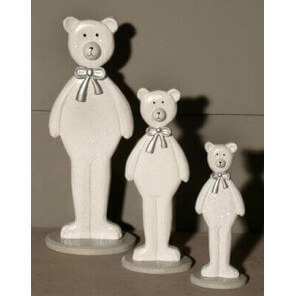 3 wooden bears