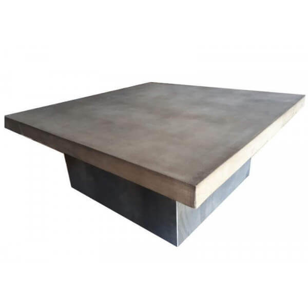 Steel and concrete table Duo