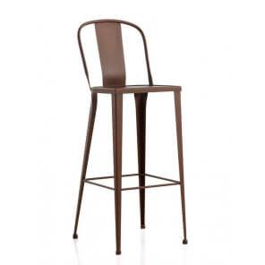 Grey outdoor bar stool