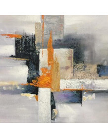 Abstract oil painting Foyer Orange