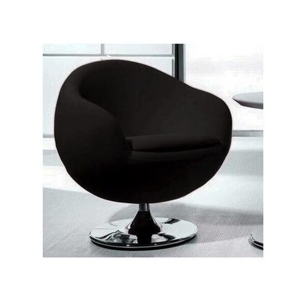 Design black armchair Ball