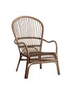 Cocoon rattan armchair