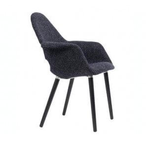 Fauteuil Oslo Tweed noir 817