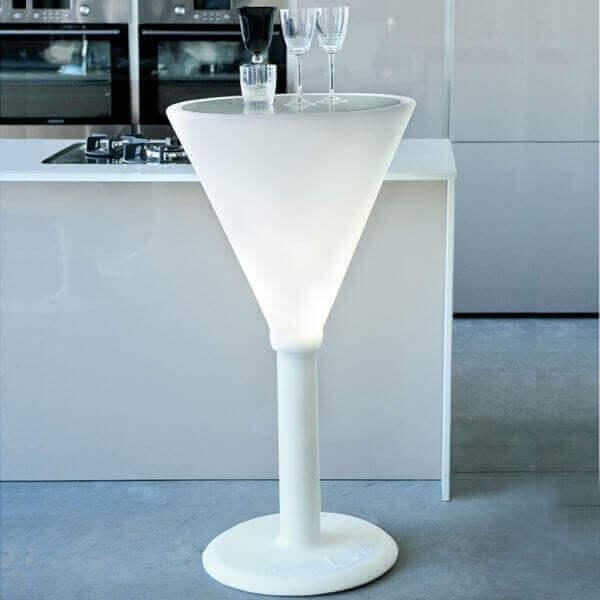 Table haute lumineuse Jet Set